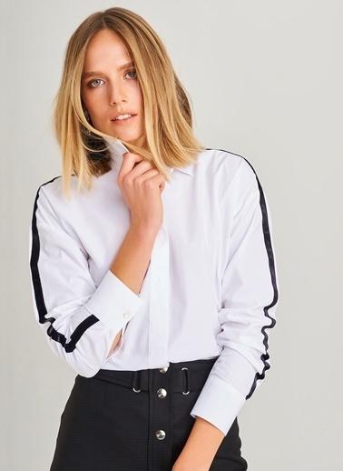 Şerit Detaylı Gömlek-People By Fabrika